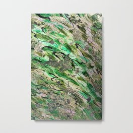 Golden and green abstract Metal Print