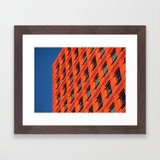 Orange and Blue Framed Art Print
