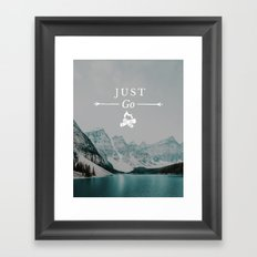 Just Go - Moraine Lake Framed Art Print