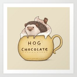 Hog Chocolate Art Print