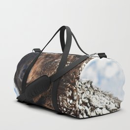 Alaskan Grizzly in Snow Duffle Bag
