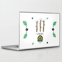 tarot Laptop & iPad Skins featuring Wand Tarot Card by JESSIE WEITZ