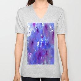 Blue Cherry Blossoms Unisex V-Neck