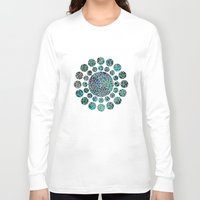 marianna Long Sleeve T-shirts featuring Floral Abstract 4 by Klara Acel