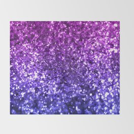 Midnight Glitter Throw Blanket