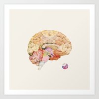 brain Art Prints featuring Brain by Oleg Borodin