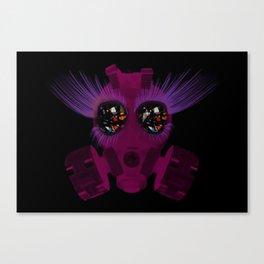 Gas Mask Sparkle Canvas Print