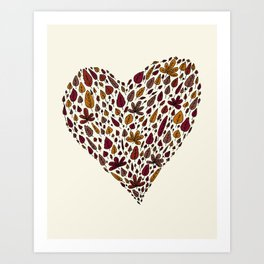 Lovely leaves Art Print