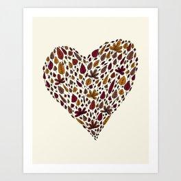 Lovely leaves Art Print
