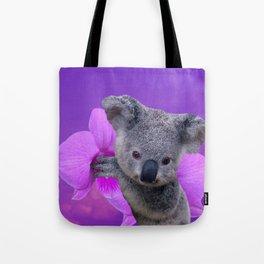 Koala and Orchid Tote Bag