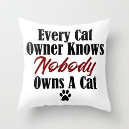 Funny Cat Evil Kitty Master Meow Kitten Pet Whisperer Throw Pillow