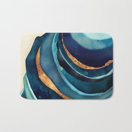 Abstract Blue with Gold Bath Mat