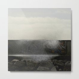The ocean behind the wall Metal Print