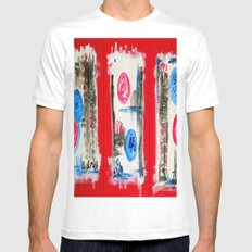 What you see is what you get MEDIUM White Mens Fitted Tee