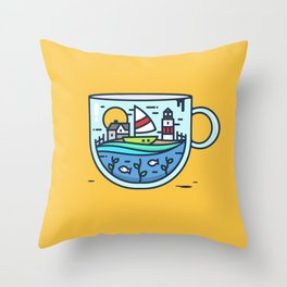 CupScape Throw Pillow