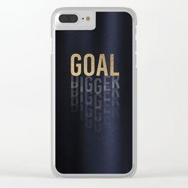 Goal Digger - Gold on Black Clear iPhone Case
