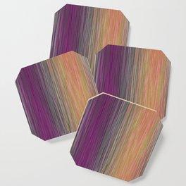 Ombre Blended Dusty Pastel Fiber Lines Coaster