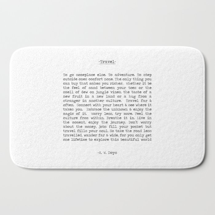 Travel Far and Often Bath Mat