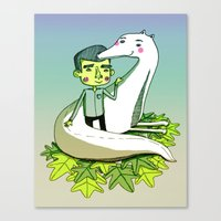 friendship Canvas Prints featuring Friendship by Emily Joan Campbell