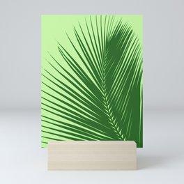 Large Palm Leaf, Emerald and Lime Green Mini Art Print
