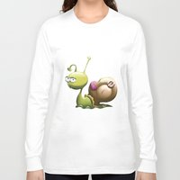 snail Long Sleeve T-shirts featuring Snail by ArtPavo