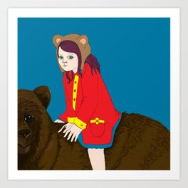 Bear Girl Art Print