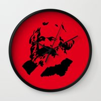 marx Wall Clocks featuring Marx by muffa
