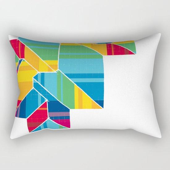 Colorful Roof Rectangular Pillow
