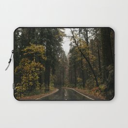 Fall Road Trip Through A Forest Laptop Sleeve