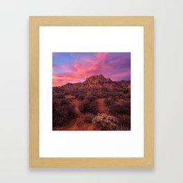 Sunrise at Red Rock Framed Art Print