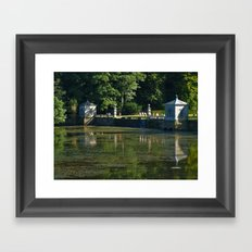 Studley Water Gardens Framed Art Print