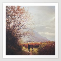 On the path Art Print
