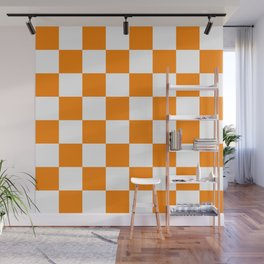 Orange and White Wall Mural