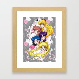 Sailor Senshi - Uncovered (Original Anime Color) Framed Art Print