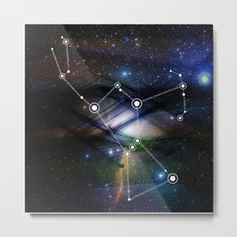Coded Orion Metal Print