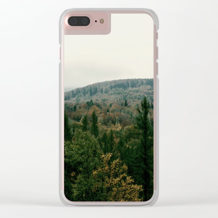 Early autumn, colorful forest and mountains Clear iPhone Case