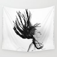 gravity Wall Tapestries featuring Gravity by Kenneth Marti