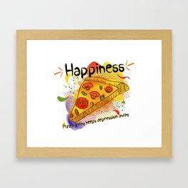 Pizza Happiness Framed Art Print