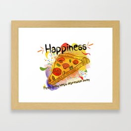Pizza Happiness Framed Art Print