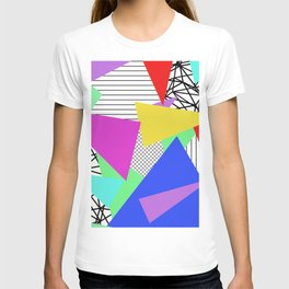 Bits And Pieces - Retro, random, abstract pattern T-shirt
