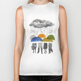 cloudy days for uppercase mag Biker Tank