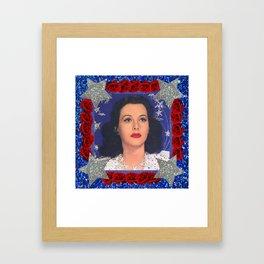 Ziegfeld Girl - Hedy Lamarr - Screen Siren  Framed Art Print