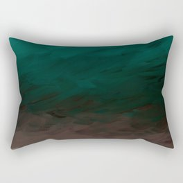 Inverted Fade Turquoise Rectangular Pillow