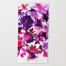 Sara Floral Pink Beach Towel
