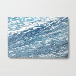 Ocean Water Waves Foam Texture Metal Print