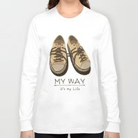 shoes Long Sleeve T-shirts featuring Shoes, by pexkung