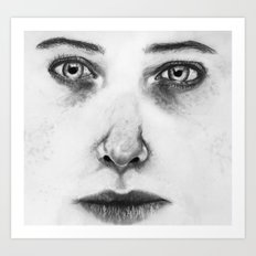 Untitled (Face Number 1) Art Print