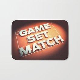 Game Set Match Bath Mat