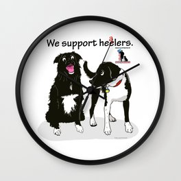 We Support Healers Wall Clock