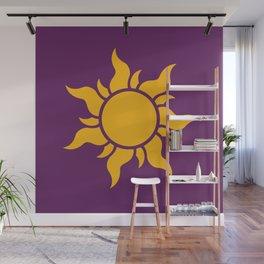 Tangled Rapunzel Sun Logo - Corona Symbol Wall Mural